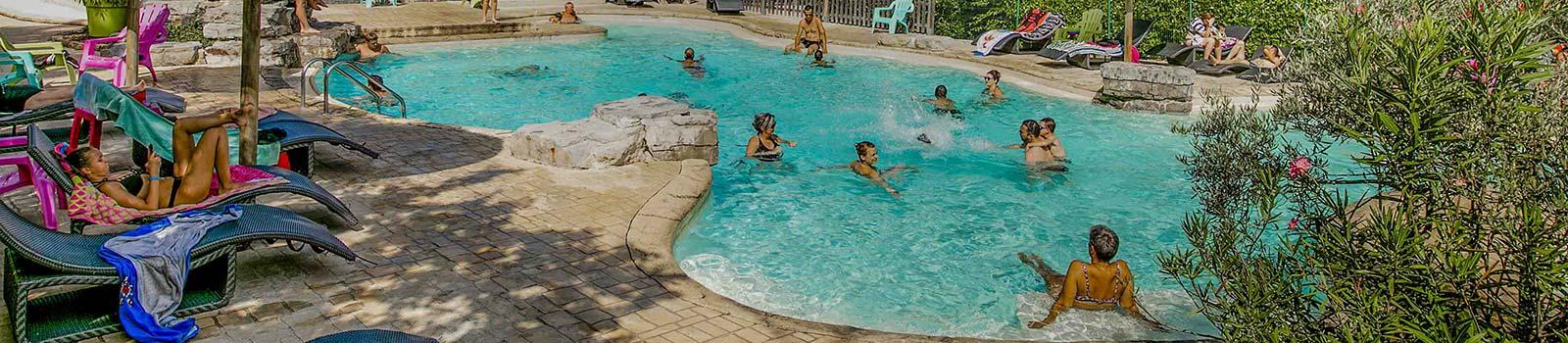 camping Ardèche avec piscine et pataugeoire