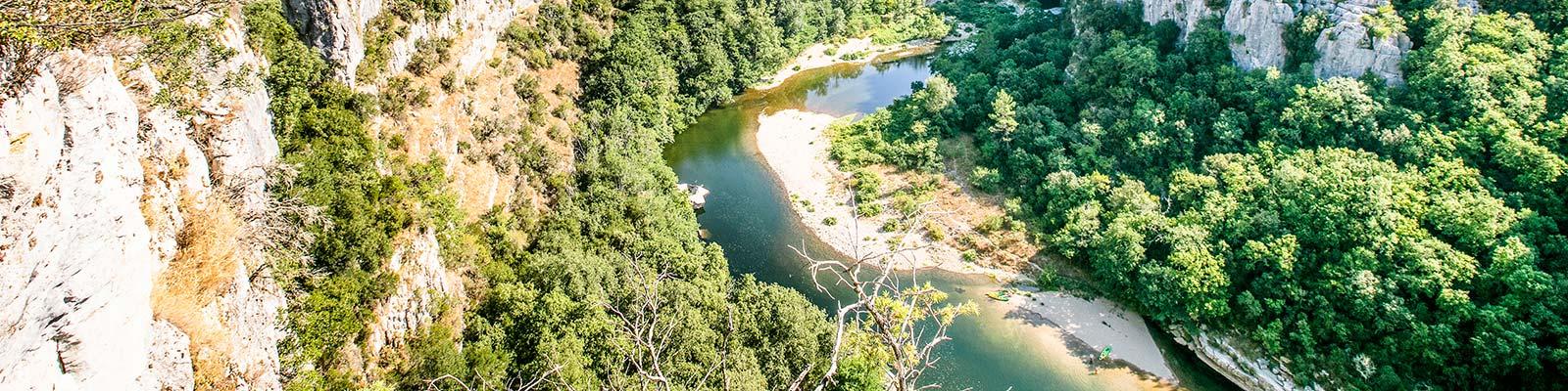 camping avec rivière Ardèche