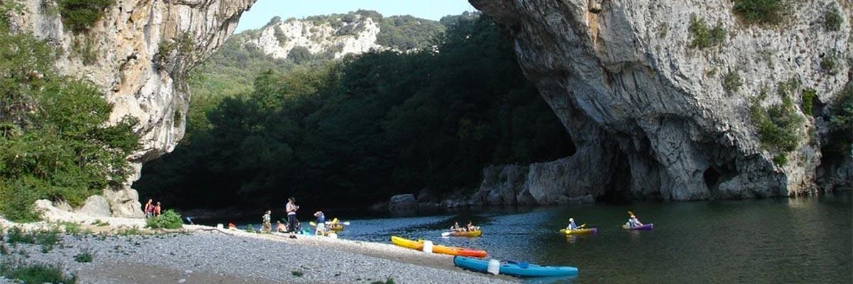 L'Ardèche en canoe