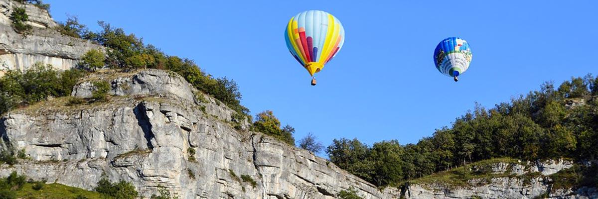Survoler l'Ardèche en montgolfière à Annonay